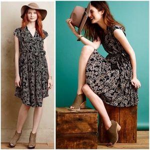 ANTHROPOLOGIE Maeve Noronha Elephant Print Dress S